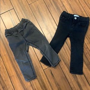 2 pairs of Gap jeans 2t